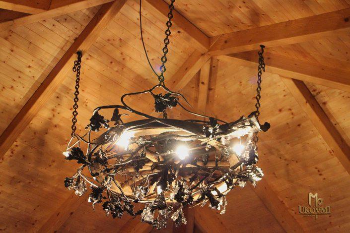 Luminaires-lustres d'intérieur en fer forgé